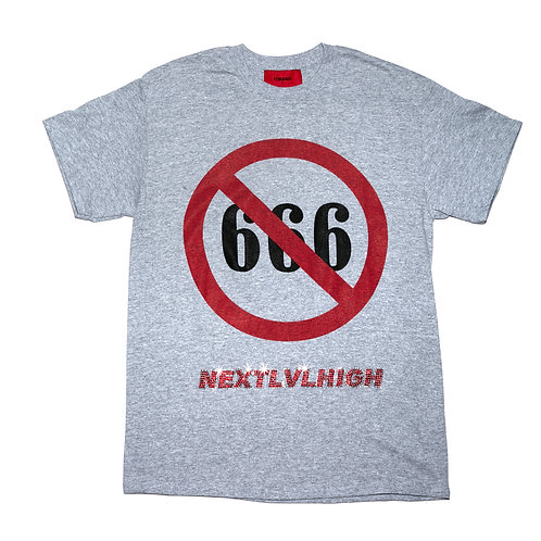 NO666 NEXT LV HIGH Tee / Grey