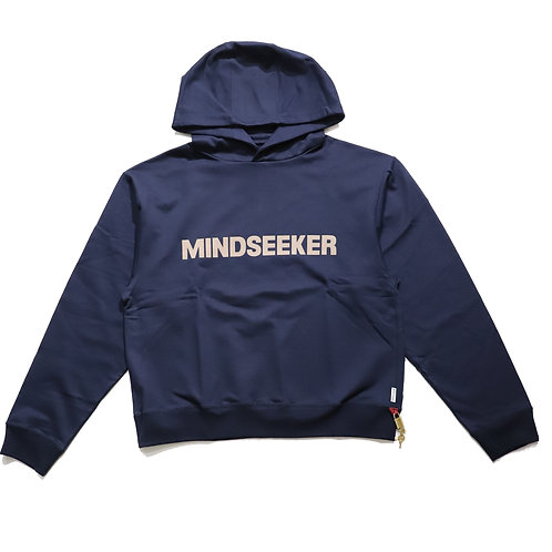 Reluxfit embroidery logo hoodie / NAVY