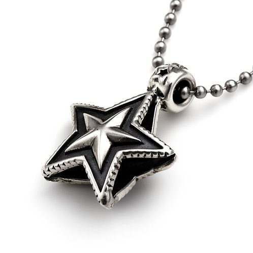 Double Sided Faceted Star Bead Pendant