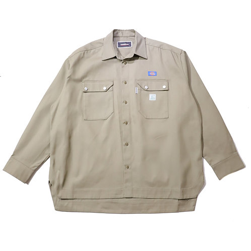 Overfit Work Shirt / KHAKI