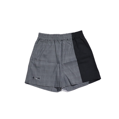 3.PARADIS /  KKAKU shorts grey plaid pinstripes
