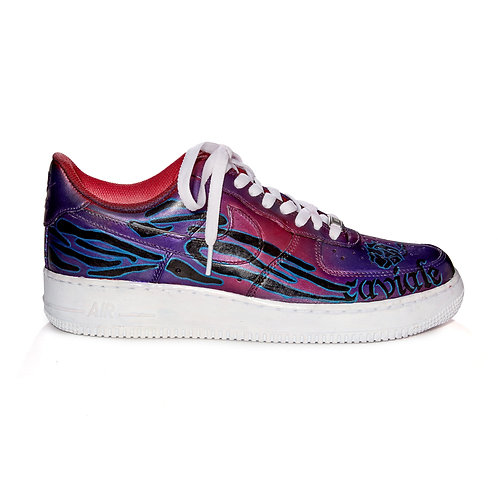 CAVIALE ONE-OFF Custom Paint AIR FORCE 1 / Purple Green / 27cm