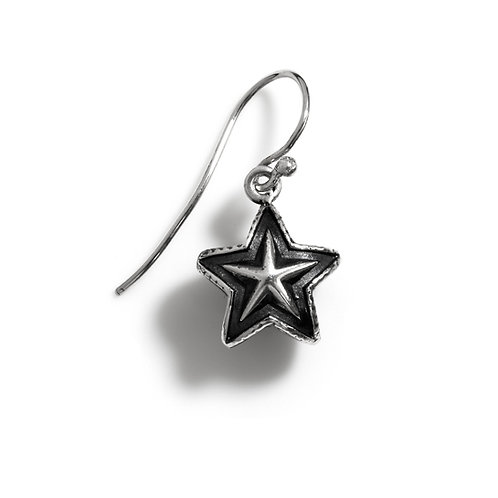 Tiny Double Face Star Earring