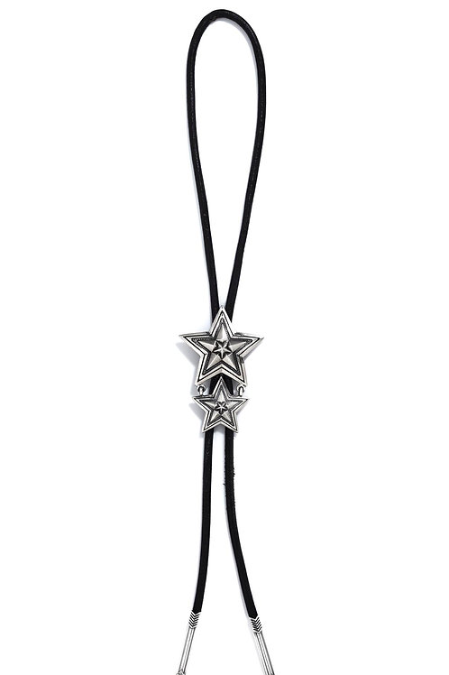 Large Star in Star Bolo Tie