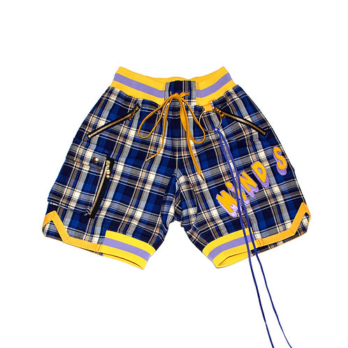 Check Patch Shorts / BLUE