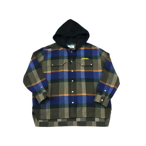 MSB Hood check shirt JKT / BLUE