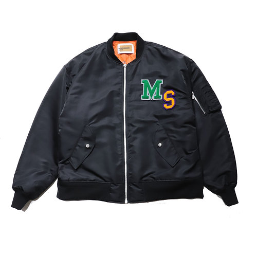 Overfit Embroidery Bomber JKT / BLACK