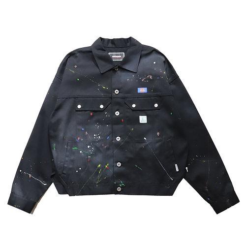 [P]Overfit Type2 Work Jacket / BLACK