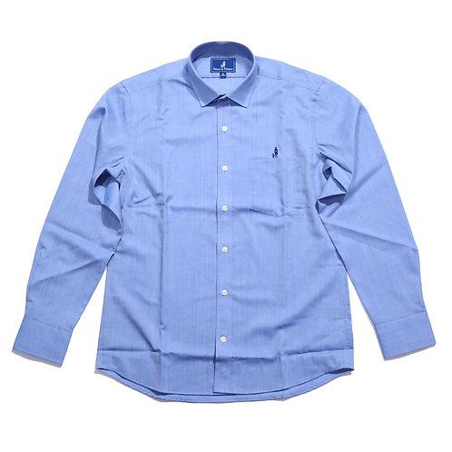 Wool & Prince / SPREAD COLLAR blue oxford