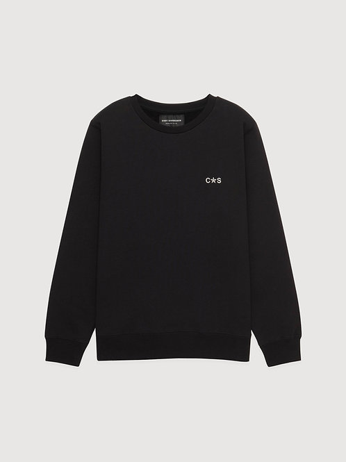 BACKSIDE LOGO SWEATSHIRT/ BLK