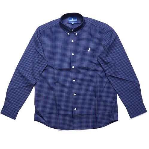 Wool & Prince / BUTTON-DOWN BLUE TATTERSALL