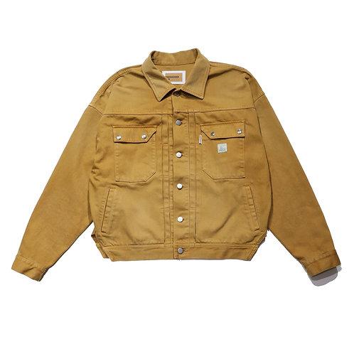 Overfit 2nd denim jacket / BROWN