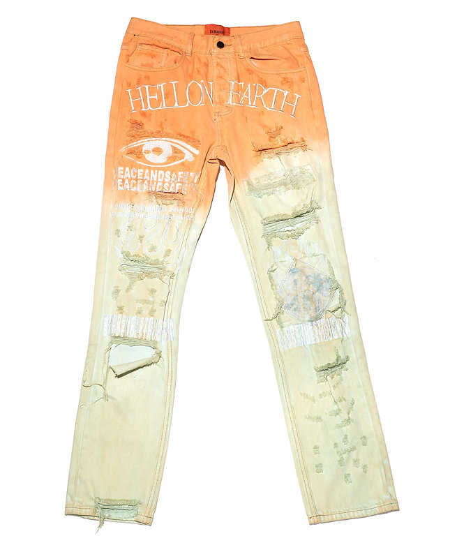 "CO. 04 ""Hell on Earth""Tie Dye Denim"