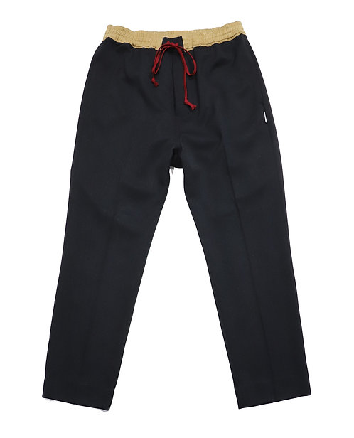 draw string slacks pants / BLACK