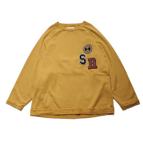 verfit Embroidery raglan sleeve sweat shirt / BROWN