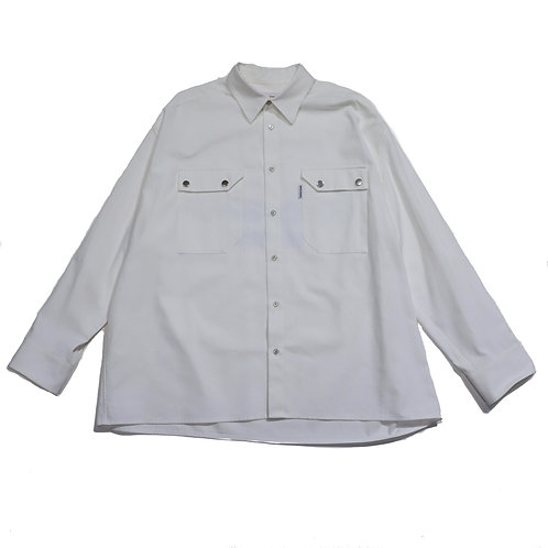 over fit Oxford shirt / WHITE