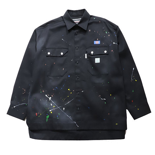 [P]Overfit Work Shirt / BLACK