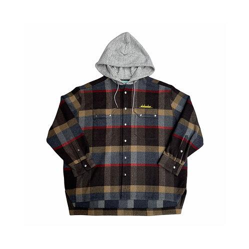 MSB Hood check shirt JKT / BROWN
