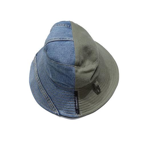 3.PARADIS / bucket hat smoke cotton denim