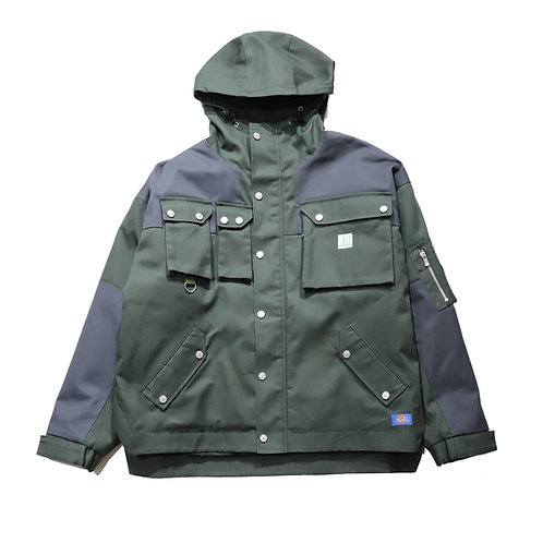 Relax Fit Tactical Mountain Parka / OLIVE GREEN