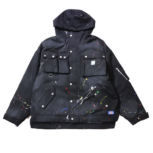 [P]Relax Fit Tactical Mountain Parka / BLACK