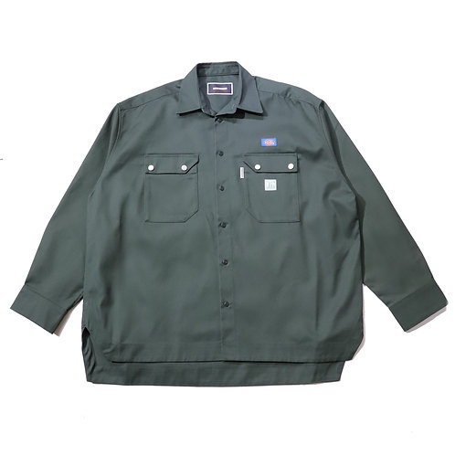 Overfit Work Shirt / OLIVE GREEN