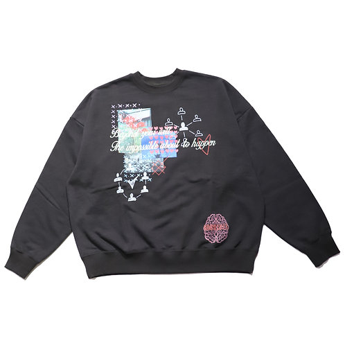 The impossible crewneck sweat / BLK