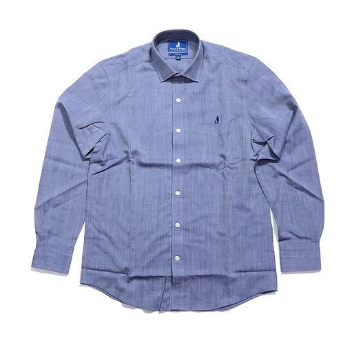 Wool & Prince / SPREAD COLLAR Dark blue oxford