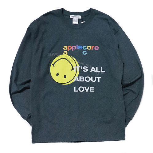 "APPLE CORE / Long sleeves ""It's all about love""_BLK"