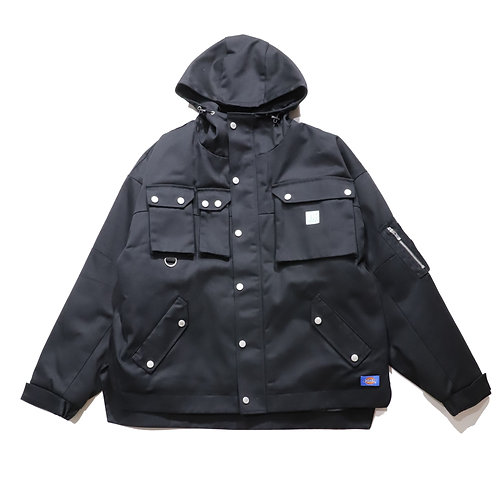 Relax Fit Tactical Mountain Parka / BLACK