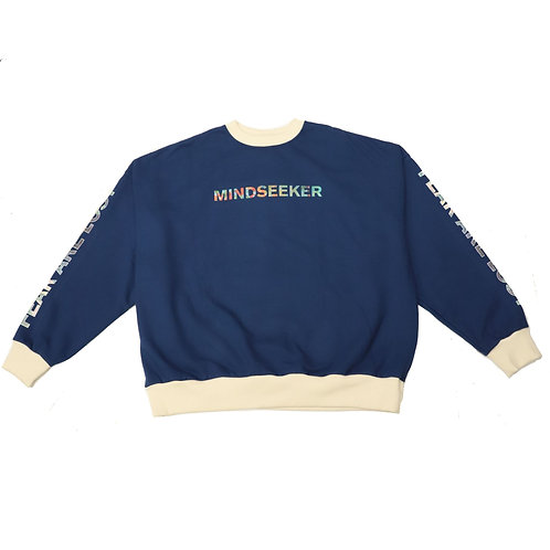 MM Logo Mix R Over Size Sweat Shirt / BLE