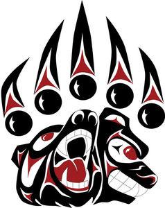 Style Tatuażu Czerwień Biel I Czerń Etniczne Wzory Indian