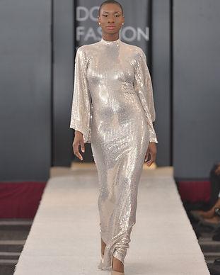 Mason Sylvester Liquid Gold Gown
