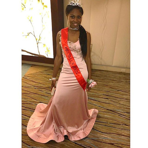 😍😍😍She won Prom Queen!😊😊😊How amazing is that_! #prom #masonsylvester #designer #dres