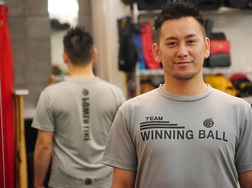 WINNING BALL Tシャツ(黒文字)