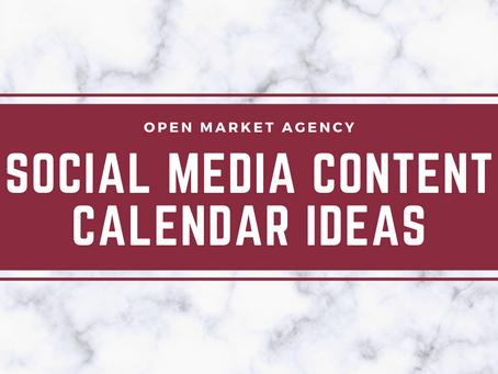 Social Media Content Calendar Ideas