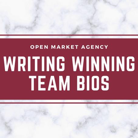 Writing Winning Team Bios