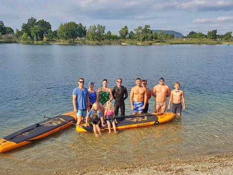 Open-Water-Schwimmtraining am Pichlinger See
