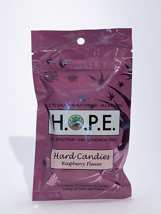 H.O.P.E. Raspberry Hard Candy