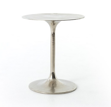 Raw Nickel Side Table