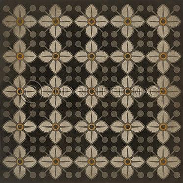 Vinyl Floorcloths: Daffodils Squares