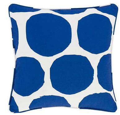 Large Spot Indoor/Outdoor Pillow - Cobalt