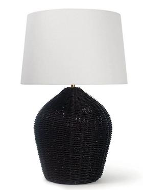 Black Natural Table Lamp