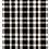Thumbnail: Black Plaid Indoor/Outdoor Rug