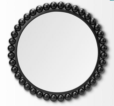 Round Beaded Mirror