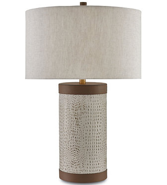 Leather & Linen Lamp