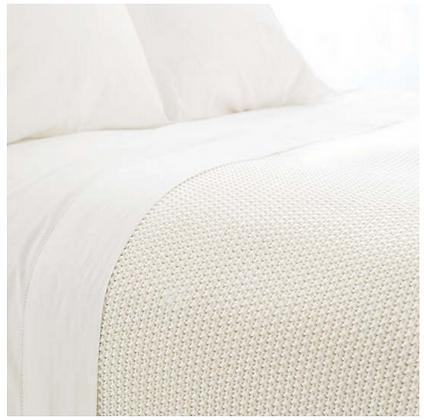 Knit Ivory Blanket