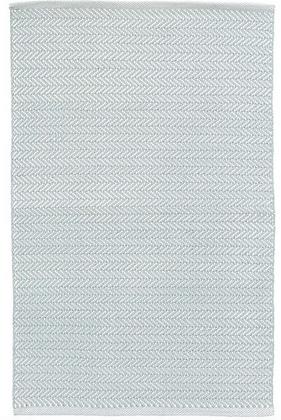 Blue Herringbone Indoor/Outdoor Rug