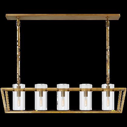 Antique Brass Linear Lantern