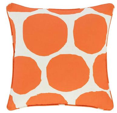 Large Spot Indoor/Outdoor Pillow - Orange